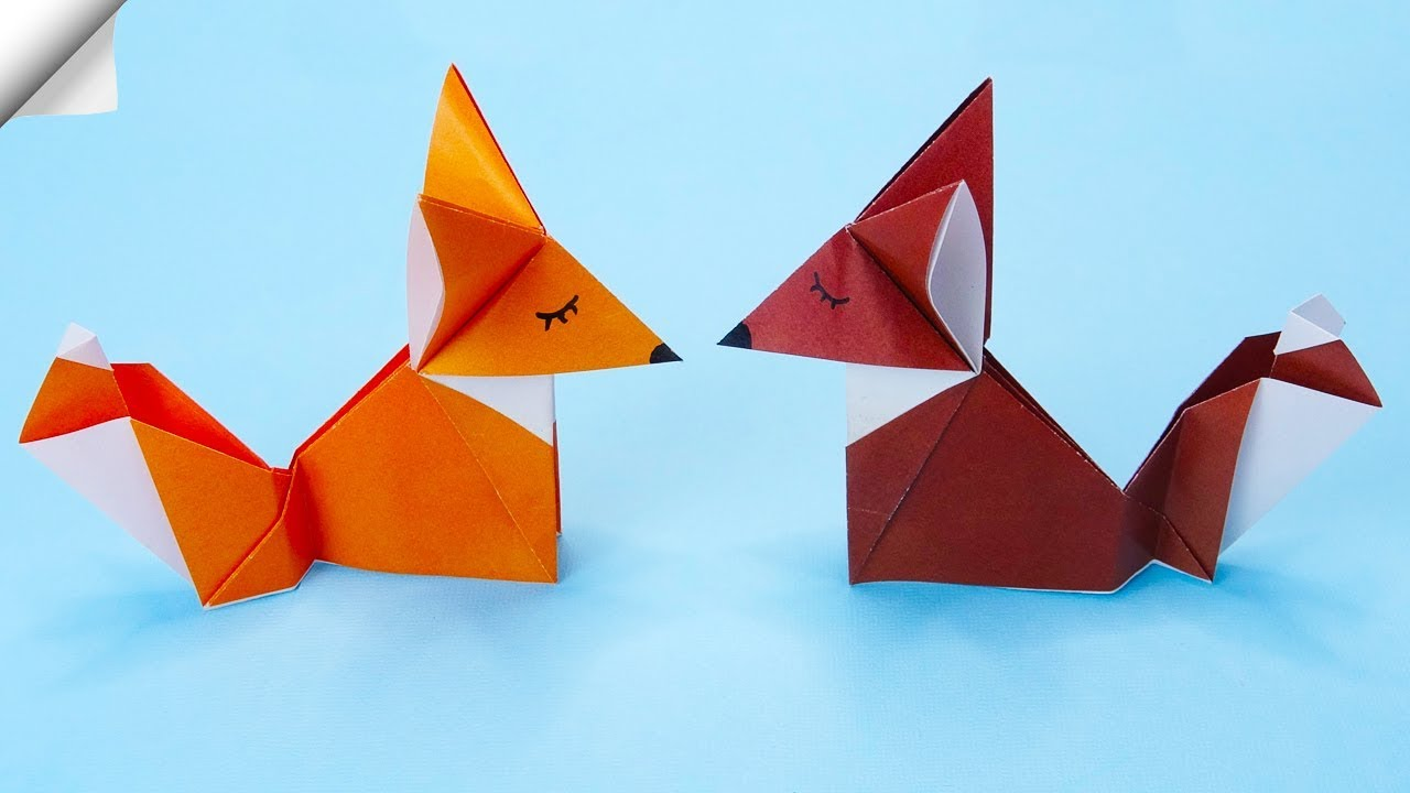 Origami Fox: 3 Simple and Best Versions for Kids | 720x1280