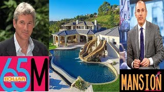 Go Inside $65M Mansion Matt Lauer Bought From Richard Gere | Mega Mansions