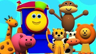 밥 열차   아이들을위한 동물   학습 비디오   동물 이름   Bob The Train   Bob Animal Train   Kids Educational Video