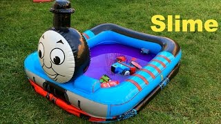 Thomas and Friends Toy Trains in Swimming Pool Disney Cars Toys McQueen Egg Surprise
