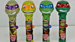 Teenage Mutant Ninja Turtles (TMNT) Lolli Pop Ups with Superhero Toy Surprises