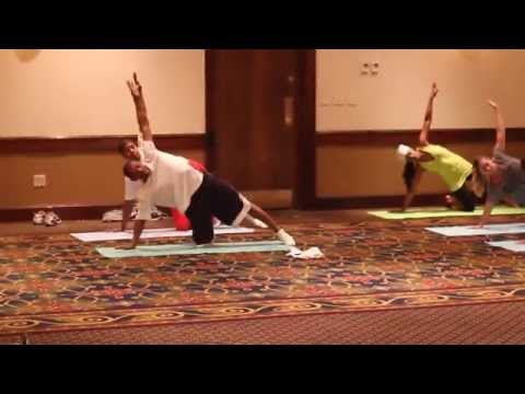 Bends Brunch and Bubbly yoga with Muggsy Bogues 2014
