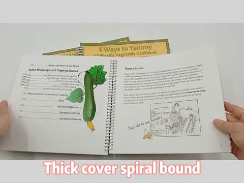Customized Spiral& Wire-O Binding Cook Book Printing In China