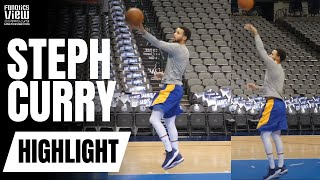 Steph Curry Behind the Scenes of NBA Practice: Works on Layups & Shooting