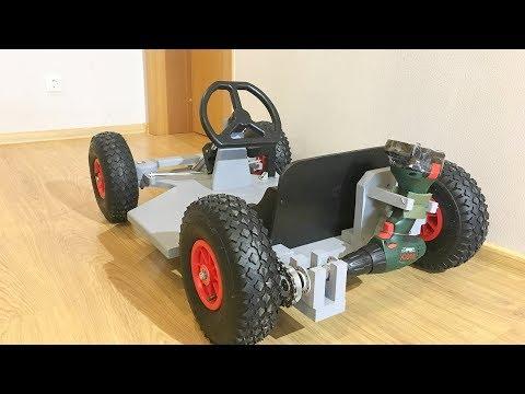 kettcar mit motor selber bauen 50km h 1080p ger musica. Black Bedroom Furniture Sets. Home Design Ideas