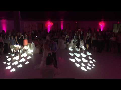 Saskatoon Wedding DJ   2nd Dance Lighting In Hearts Parents father Daughter Mother Son   Armed With