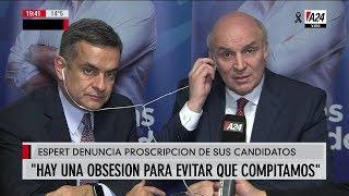 """José Luis Espert con Luis Rosales en """"El noticiero A24"""" de Feinmann por """"A24"""" el 18 de julio de 2019"""