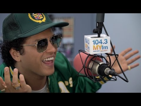 Bruno Mars Talks