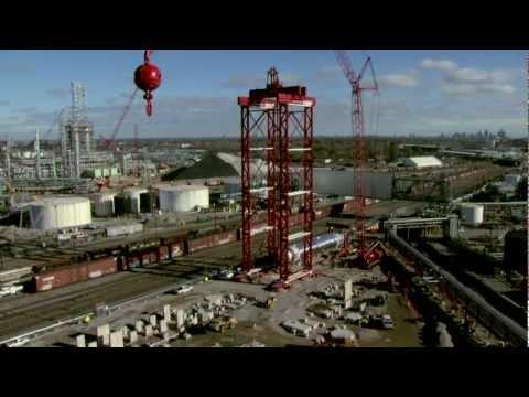 Barnhart - Modular Lift Tower -  Refining Vessel Lift