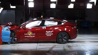 Tesla Model 3 Euro NCAP crash tests and AEB testing