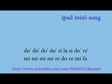 Anuncio ipad mini (Heart and soul) - Flauta dulce notas - Partitura - Recorder - Score