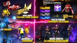 BANDEIRÃO 2.0 CONFIRMADO, CR7 NERFADO, TUDO DA TEMPORADA 9ª DO CS RANK, NOVOS EMOTES E SKINS E MAIS!
