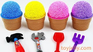 Learn Colors & Numbers with Play Foam Ice Cream Cups Surprise Eggs Nursery Rhymes song Fun for Kids