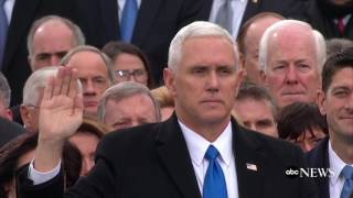 Mike Pence Takes Oath of Office   ABC News