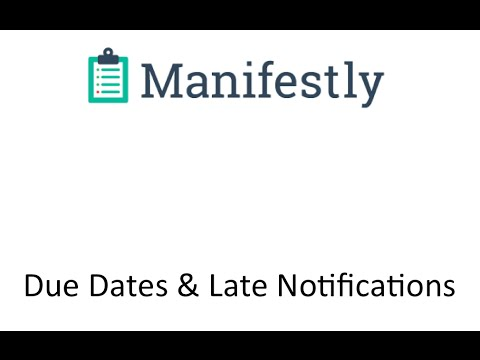 Checklist Due Dates and Late Notifications