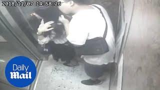 Nećete vjerovati šta je ovaj perverznjak radio jednoj djevojci u liftu (VIDEO)