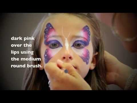 easy butterfly face painting maquillage pour enfants youtube. Black Bedroom Furniture Sets. Home Design Ideas