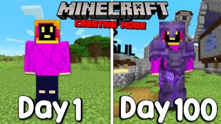 I Survived 100 Days Of Minecraft In Creative Mode And Here's What Happened...