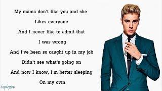 Justin Bieber - Love Yourself (Lyrics)