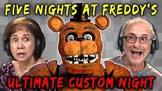 ELDERS PLAY FNAF: ULTIMATE CUSTOM NIGHT | Five Nights at Freddy's (Elders React: Gaming)