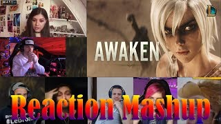 Awaken (ft. Valerie Broussard) | League of Legends  Cinematic - Season 2019 REACTIONS MASHUP