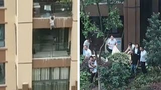 Video: Toddler survives fall from six-storey building..