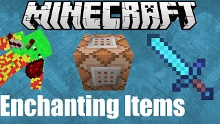 Give enchanted items with ONE command in Minecraft 1.7+