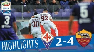 Fiorentina - Roma 2-4 - Highlights - Giornata 12 - Serie A TIM 2017/18