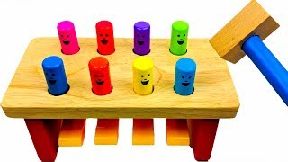 Learn Colors with Melissa and Doug Pounding Table Toy Playset for Kids