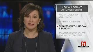 Allegiant Announces New Tulsa Flight To Destin Florida