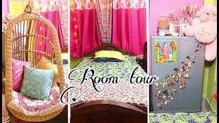 Room tour: diy room decor ideas | Indian + Bohemian colorful room