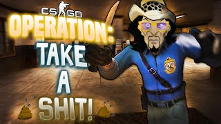 JEROME AND I PLAY CS:GO! - OPERATION TAKE A POOP!! - Mr. OCTOPUS, Jerome Jr. and Prison!