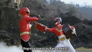 Gokai Red vs Gosei Red | Pelicula: Super Sentai 199 Hero Great Battle sub español [3]