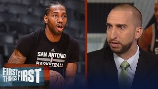 Nick and Cris react to reports Kawhi's 'people' hid him from Spurs staff | NBA | FIRST THINGS FIRST