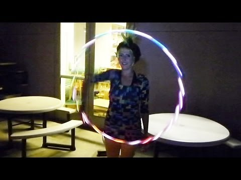 Glowing Hula Hooping @ Big Nerd Ranch: Big Arcade (YT3D:Enable=True)
