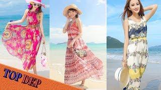 Các mẫu váy đi biển trẻ trung nổi bật nhất năm 2017
