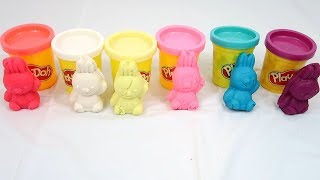 Play Bunny Play-doh And Learn Colors, Numbers, And Kitty Shapes | Educational Video For Children