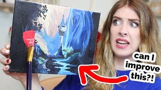 I PAINTED OVER One of My OLD Paintings...?? | 12 Days of Giving