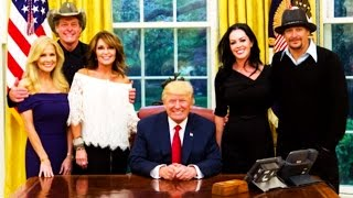 Trump Hangs Out With Kid Rock, Ted Nugent & Sarah Palin All Day Because That's a Good Use of Time