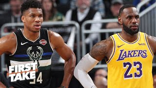 Lakers or Bucks: Which team is more likely to make the NBA Finals? | First Take