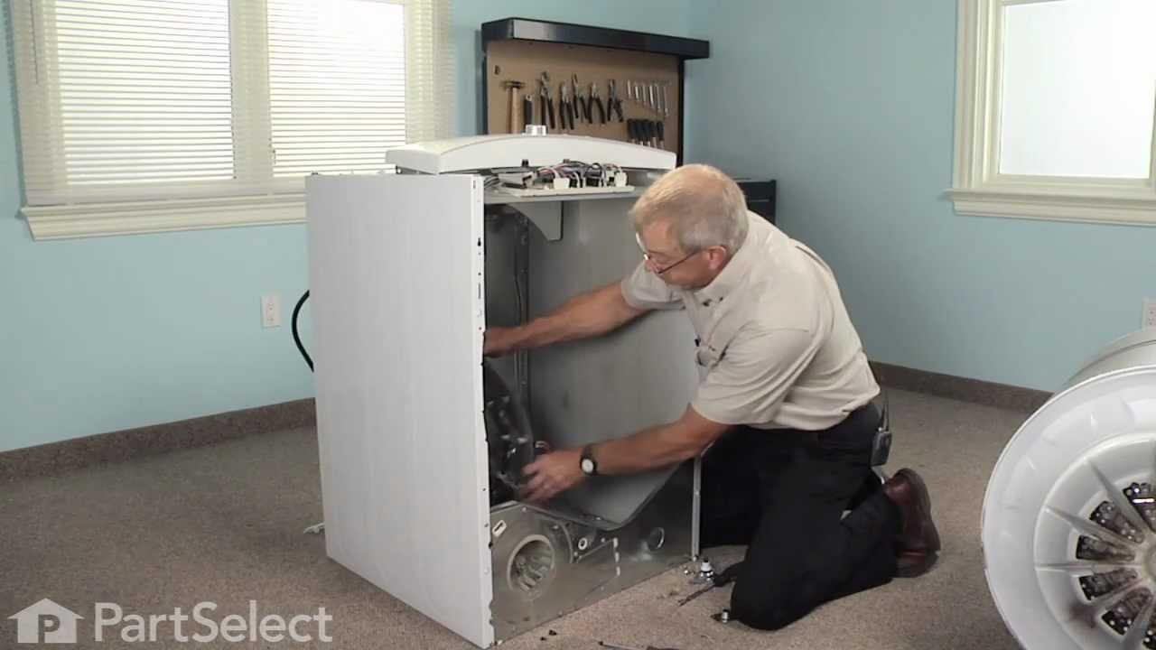 Dryer Repair Replacing The Rear Drum Bearing Kit Part