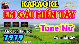 Karaoke 7979 Em Gái Miền Tây Nhạc Sống Tone Nữ  || Hiệu Organ Guitar 7979 || Beat Chất Lượng Cao