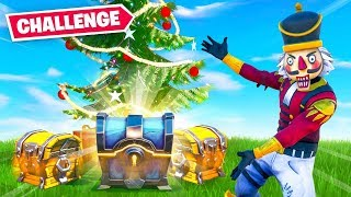 The CHRISTMAS LOOT ONLY Challenge in Fortnite!