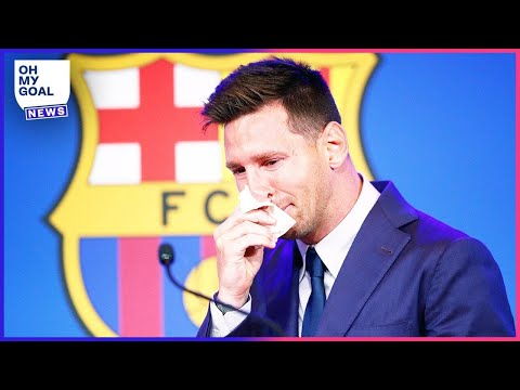Lionel Messi Bursts Into Tears In Emotional Press Conference After Barcelona Exit