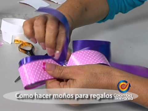 Como hacer moños para decorar regalos - Johana Sanchez Aguirre