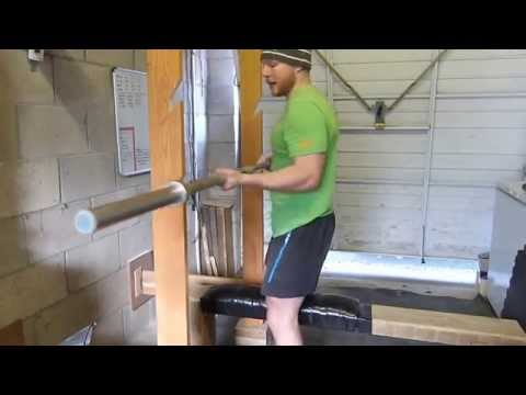 Homemade safety squat bar musica movil for Homemade safety squat bar