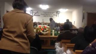 Pastor Richard Morgan from First African Baptist in Tuscalo