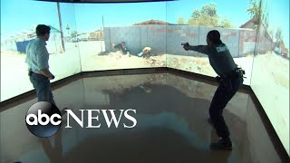 Virtual simulator helps train police on de-escalation tactics