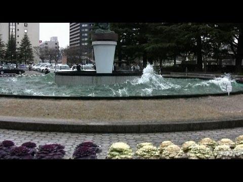 地震発生時 福島県庁