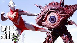 GTA 5 Mod - Siêu Nhân Điện Quang Chiến Đấu Quái Vật Một Mắt Khổng Lồ | Big Bang